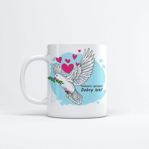 kubek hodowcy gołębi gadżety dla gołębi dobry lot