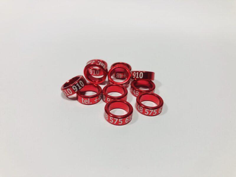 obraczki aluminiowe dla golebi czerwony 800x600