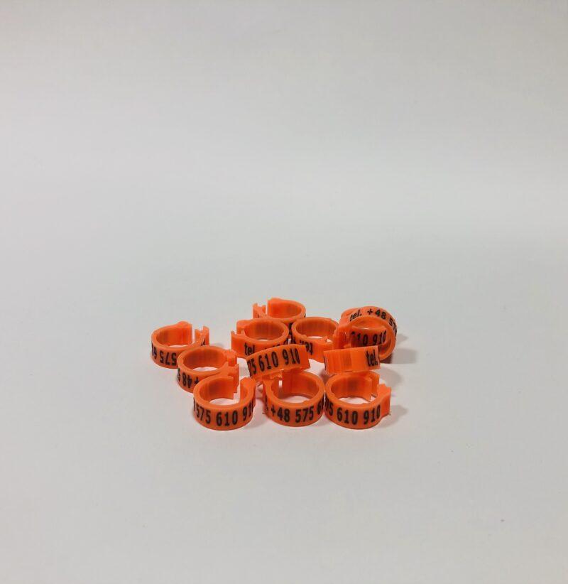 znaczniki dla golebi pocztowych kwadratowe zapiecie pomaranczowe 800x822